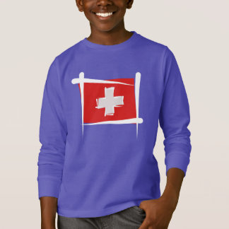 Switzerland Brush Flag T-Shirt