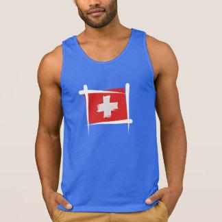 Switzerland Brush Flag Tank Top
