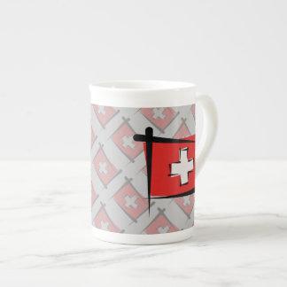 Switzerland Brush Flag Tea Cup