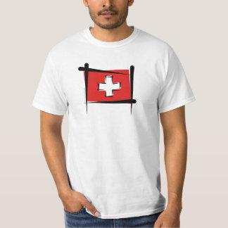 Switzerland Brush Flag Tee Shirt