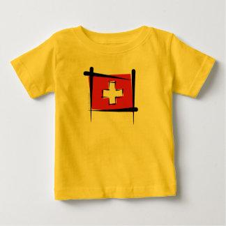 Switzerland Brush Flag Infant T-shirt