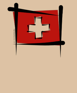Switzerland Brush Flag T Shirts
