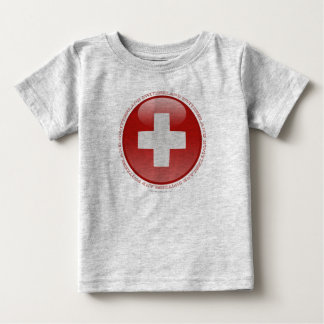 Switzerland Bubble Flag Baby T-Shirt
