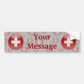 Switzerland Bubble Flag Bumper Sticker