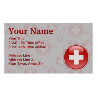 Switzerland Bubble Flag Business Card