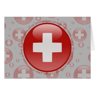 Switzerland Bubble Flag Card