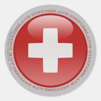Switzerland Bubble Flag Classic Round Sticker