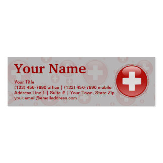 Switzerland Bubble Flag Double-Sided Mini Business Cards (Pack Of 20)