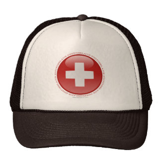 Switzerland Bubble Flag Hats