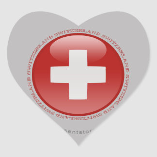 Switzerland Bubble Flag Heart Sticker