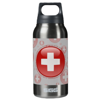 Switzerland Bubble Flag Insulated Water Bottle