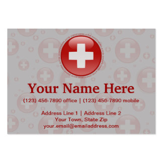 Switzerland Bubble Flag Large Business Card
