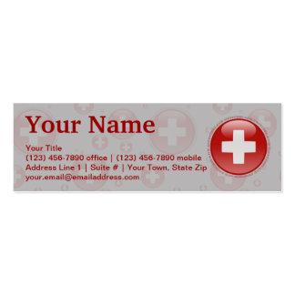 Switzerland Bubble Flag Mini Business Card