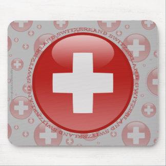 Switzerland Bubble Flag Mouse Pad