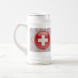Switzerland Bubble Flag Coffee Mugs