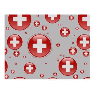 Switzerland Bubble Flag Postcard