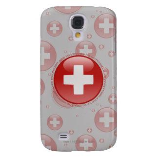 Switzerland Bubble Flag Samsung Galaxy S4 Cases