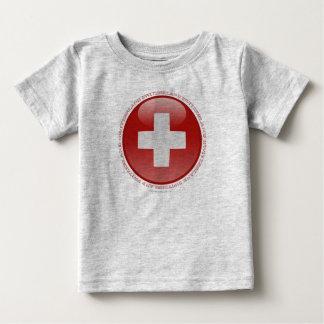 Switzerland Bubble Flag T-shirts