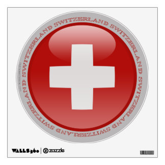 Switzerland Bubble Flag Wall Sticker