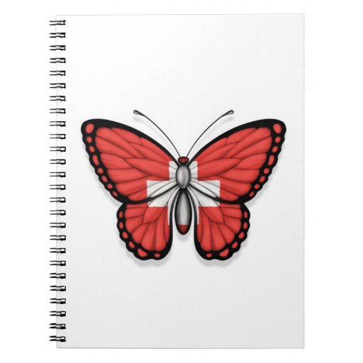 Switzerland Butterfly Flag Journals