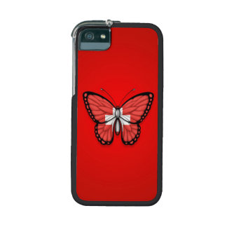 Switzerland Butterfly Flag on Red Case For iPhone 5