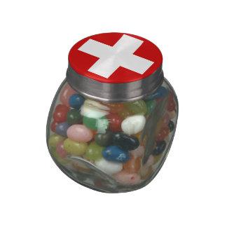 Switzerland Glass Candy Jar