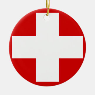 Switzerland Ceramic Ornament