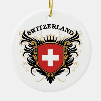Switzerland Ceramic Ornament