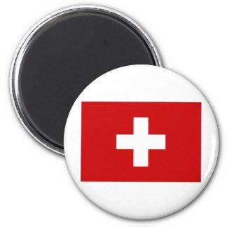 Switzerland Civil Ensign 2 Inch Round Magnet