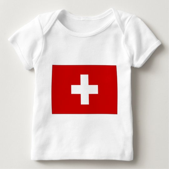 Switzerland Civil Ensign Baby T-Shirt
