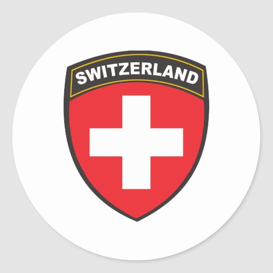 Switzerland Classic Round Sticker
