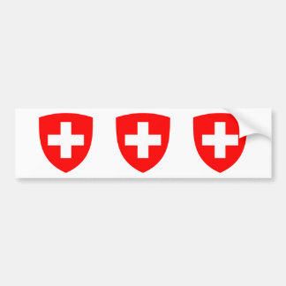 Switzerland Coat of Arms Bumper Sticker