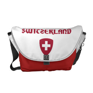 Switzerland + Coat of Arms Courier Bag