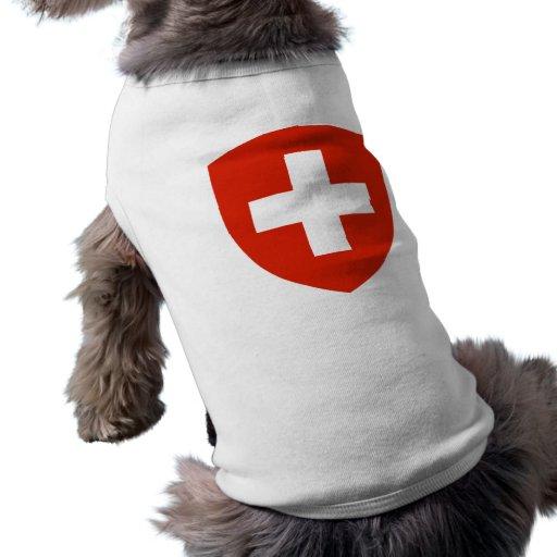 Switzerland Coat of Arms Dog Tee Shirt