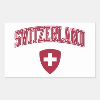 Switzerland + Coat of Arms Rectangular Sticker