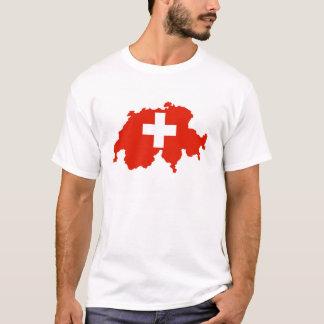 switzerland country flag map swiss symbol T-Shirt