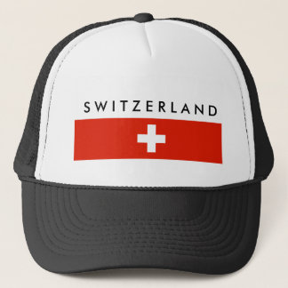 Switzerland country flag swiss nation symbol trucker hat
