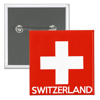 Switzerland country flag symbol name text swiss pinback buttons