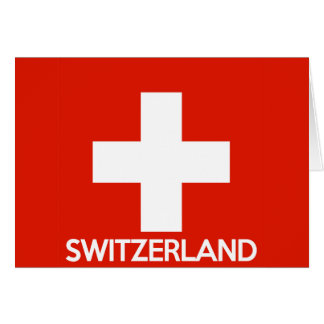 Switzerland country flag symbol name text swiss card