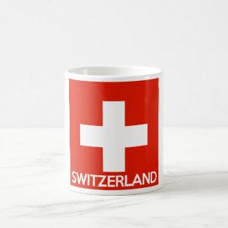 Switzerland country flag symbol name text swiss coffee mug
