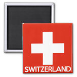 Switzerland country flag symbol name text swiss magnet