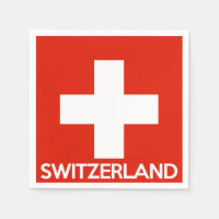Switzerland country flag symbol name text swiss paper napkin