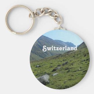 Switzerland Countryside Basic Round Button Keychain
