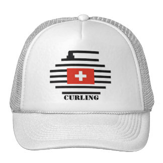 Switzerland Curling Trucker Hat