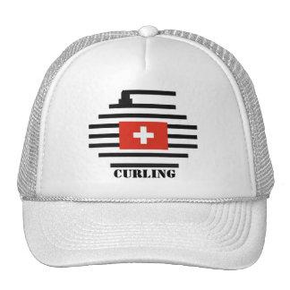 Switzerland Curling Trucker Hat