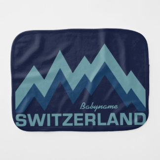 SWITZERLAND custom burp cloth