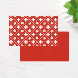 Switzerland Edelweiss pattern Business Card