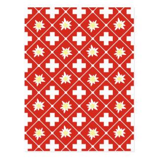 Switzerland Edelweiss pattern Postcard