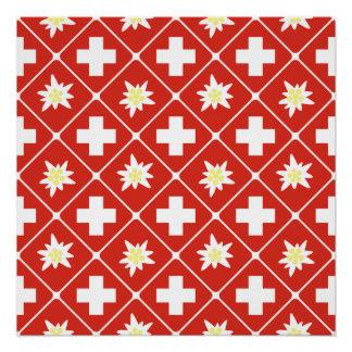 Switzerland Edelweiss pattern Poster