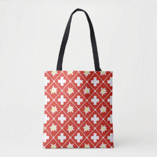 Switzerland Edelweiss pattern Tote Bag